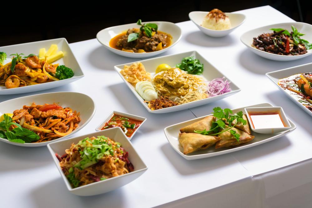 Rangoon Ruby Table with Food