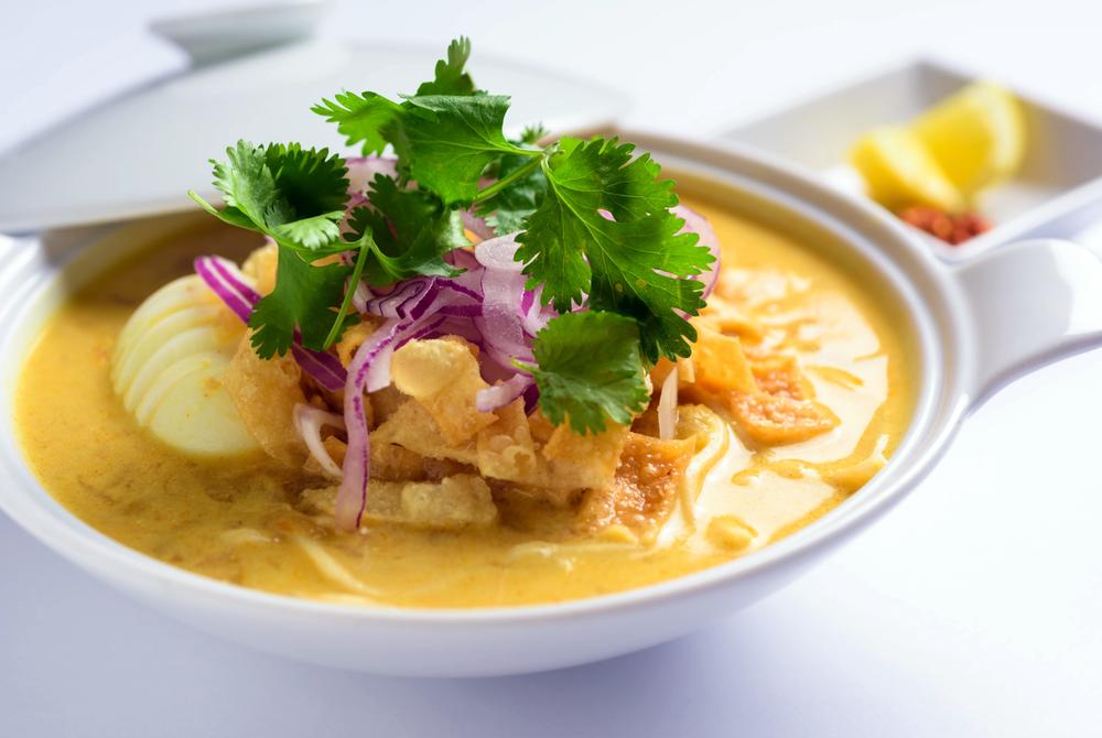 Rangoon Ruby Ohnoh Kawt Swe (Coconut Noodle Soup)