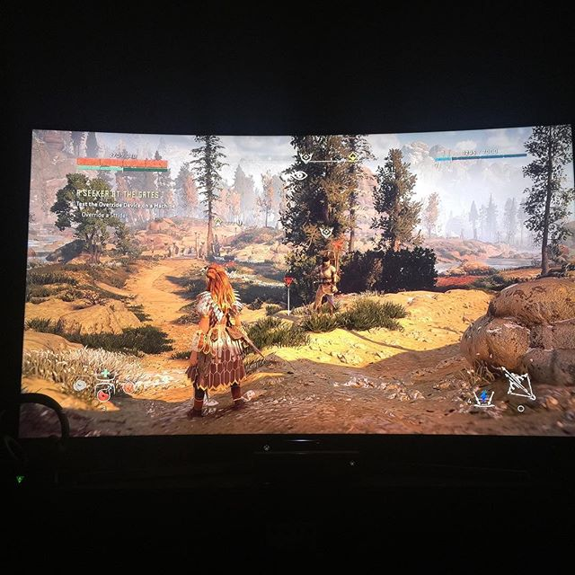 This shit is fuuuuuuucking cray 👏🏼👏🏼👏🏼👏🏼 10/10 Guerrilla Games you MFs. PS not even like two hours in yet. /// #ps4 #playstation #console #consolegaming #guerrillagames #horizonzerodawn #beautiful #gorgeous #myeyes #amazing #tripleA #aloy #videogames #gaming #computergames #nerd #twitch #thirdperson