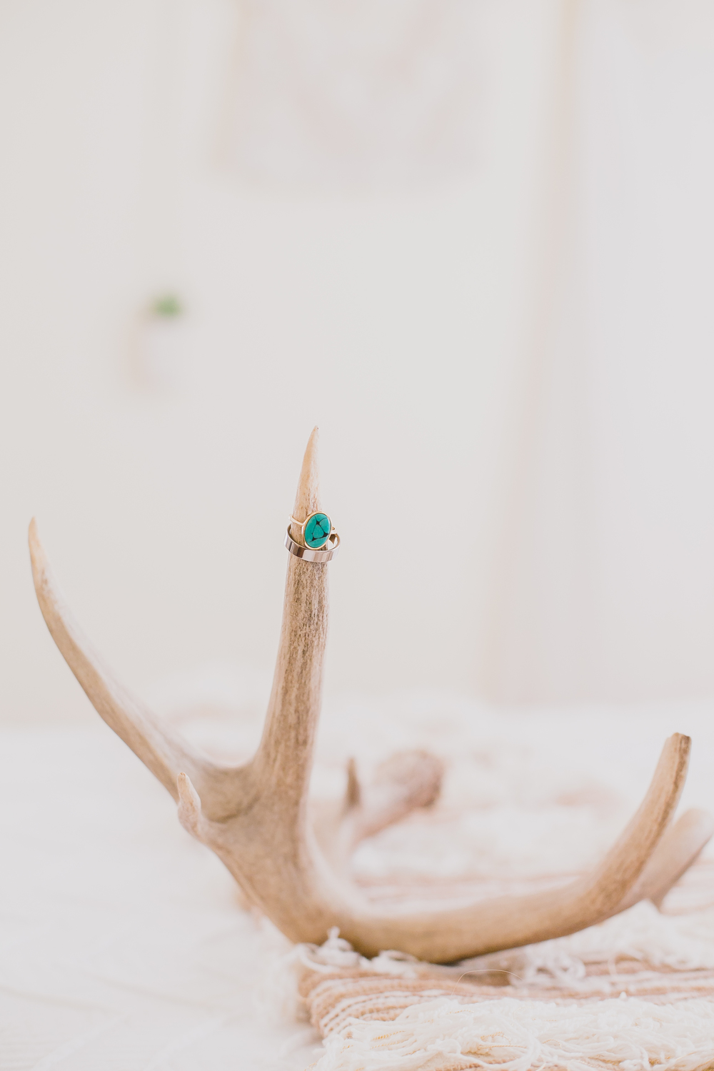 My only request for my wedding ring was that it be a turquoise stone, Dan nailed it with this oval ring from Mociun.