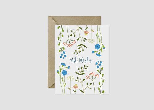 Scandinavian wildflower best wishes greeting card nordic fox scandinavian wildflower best wishes greeting card m4hsunfo