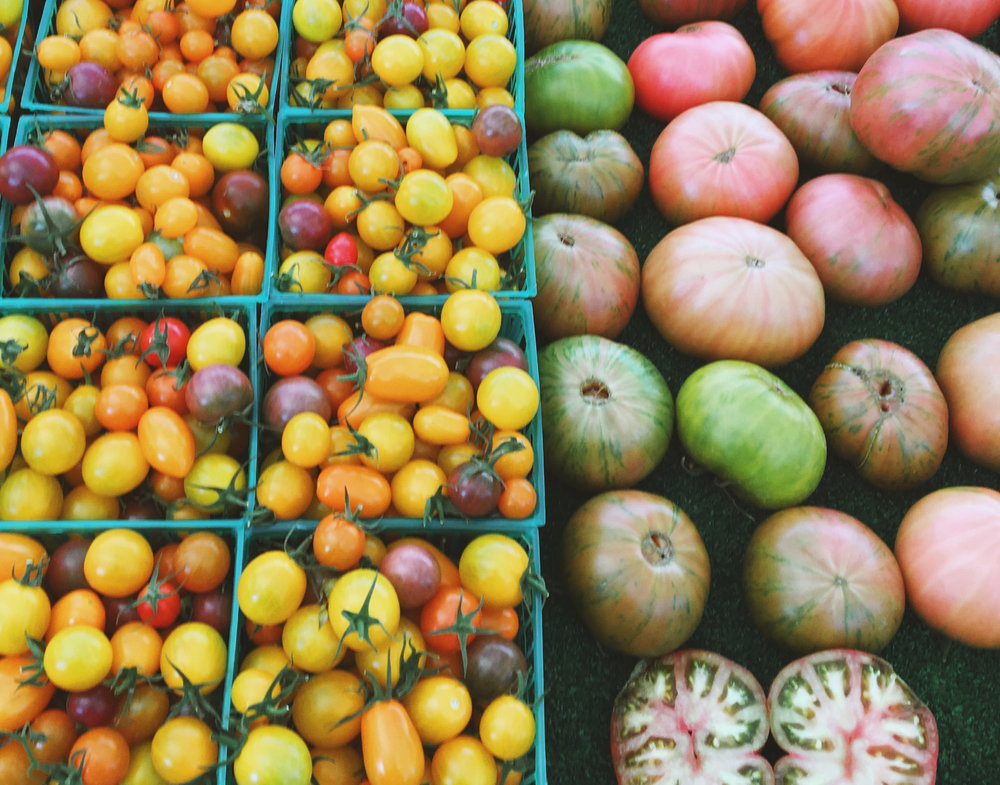 PRODUCE AT THE LOCAL FARMER'S MARKET. PHOTO BY NORDIC FOX DESIGN CO
