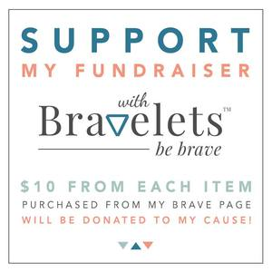 "OUR GIVING – UPFRONT AND HONEST  Bravelets™ is not a non-profit organization. We are a for-profit company with giving at our core. We believe in transparency. We believe in making a difference. We don't believe in the phrase ""a portion of proceeds will be donated…."" What does that mean? Is a portion $.01? Is a portion 1%? That kind of giving is confusing and un-fulfilling to the purchaser. We want you to feel good about your purchase. We want you to know, when you look down at your wrist, that $10 was donated to your cause. We want you to know that you helped make a difference."