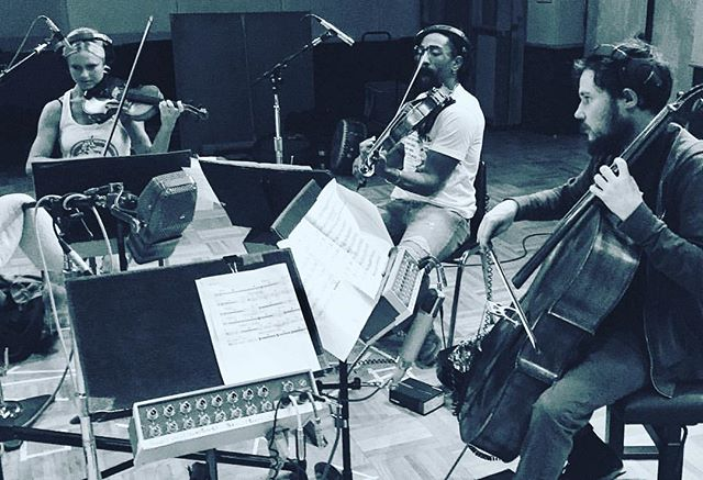 Our strings doing what we do best at @fantasystudios  #cosanostrastrings #fantasystudios #jazzmafia