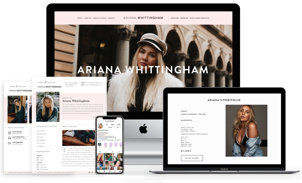 Ariana Whittingham - Social Media Influencer Package Display Image