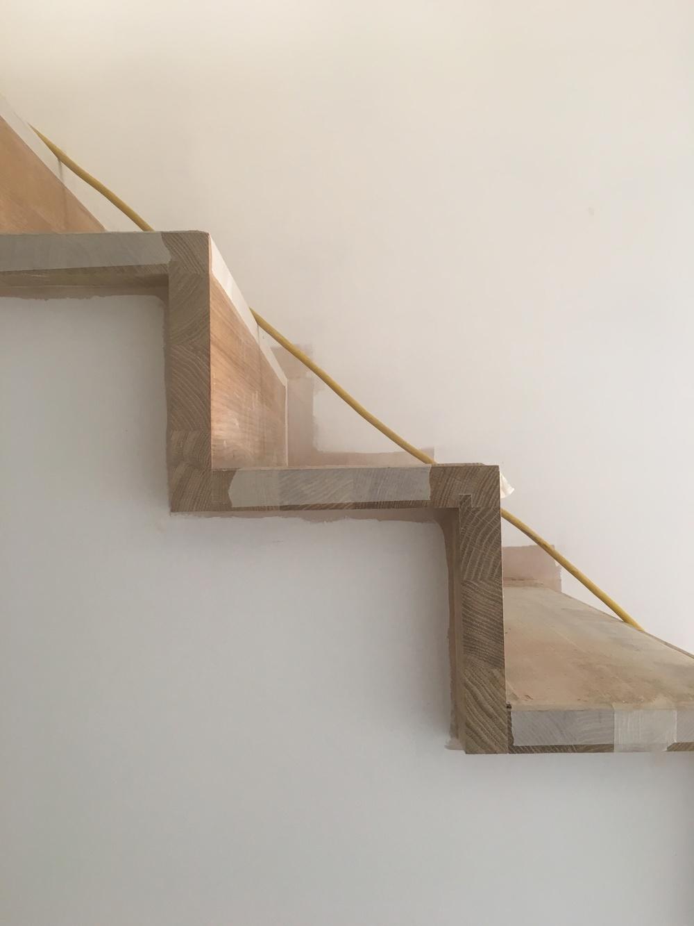 Installed bespoke stair case