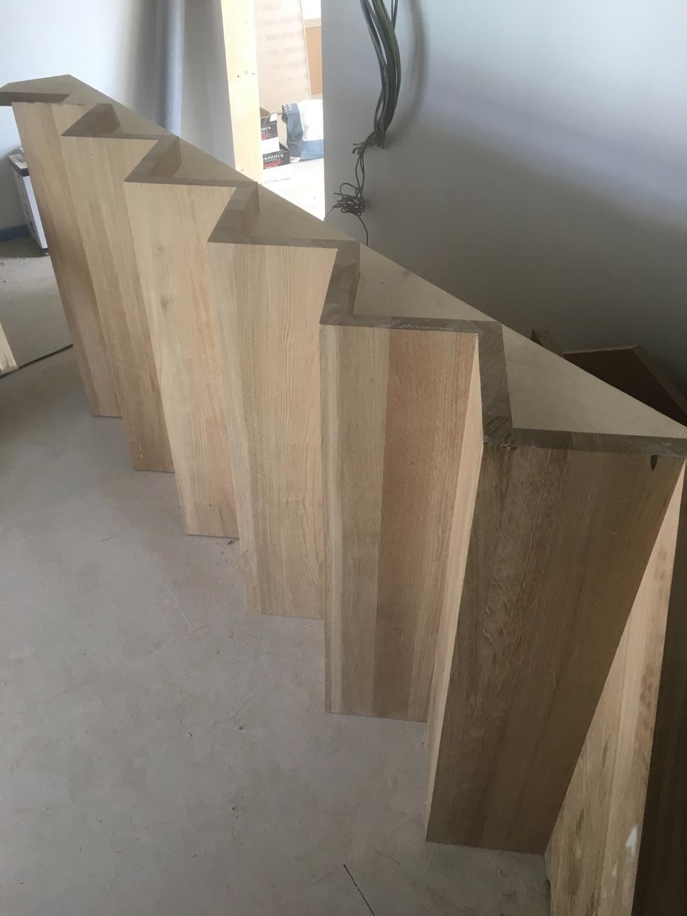 uninstalled bespoke stair case