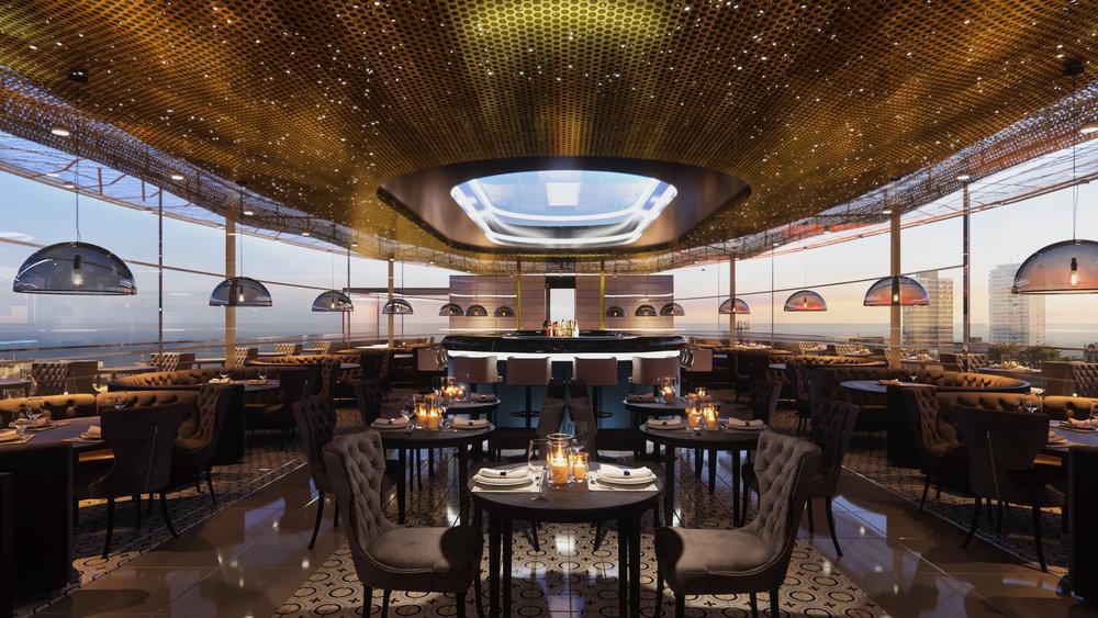 Tower point Restaurant ZST architects ZSTa