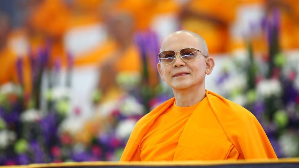 Most Venerable Phrathepyanmahamuni (Luang Por Dhammajayo), the abbot of Wat Phra Dhammakaya