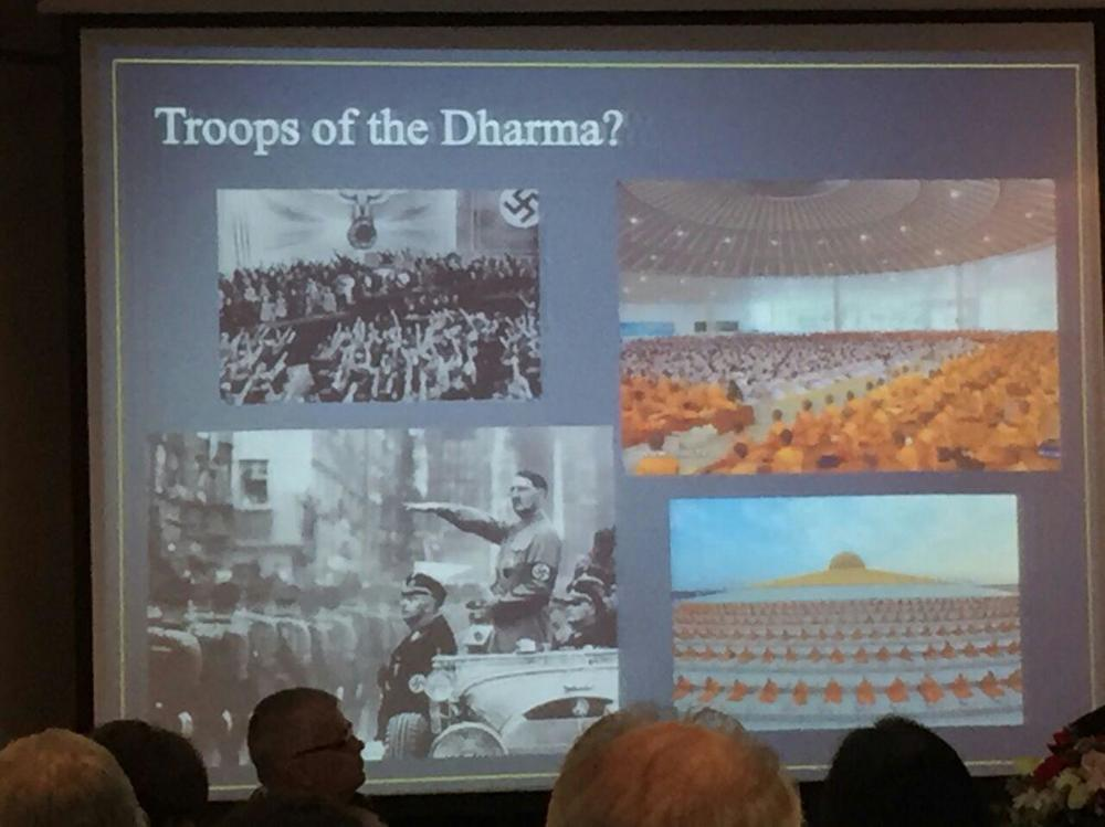 This is an actual slide from Dr. Mano Laohavanich's Anti-Dhammakaya presentation at the Foreign Correspondents Club Thailand Panel.