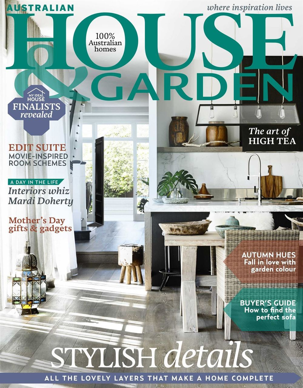 Kitchen Gardener Magazine Battle Of The Interior Design Magazines May 2016 Colour Me Happy