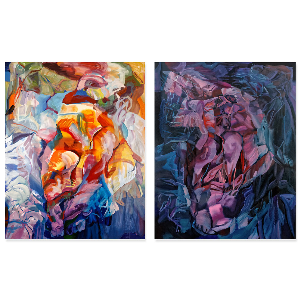 Barycenter III and IV Oil on Canvas 120 x 150 cm each