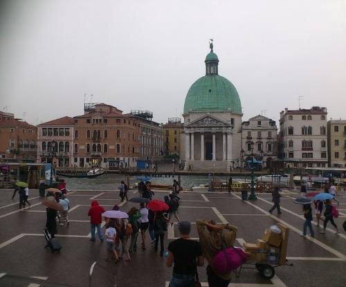 The view on leaving Venezia Santa Lucia Station