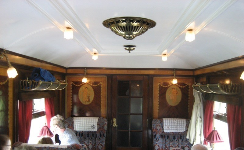 The interior of the Phoenix carriage