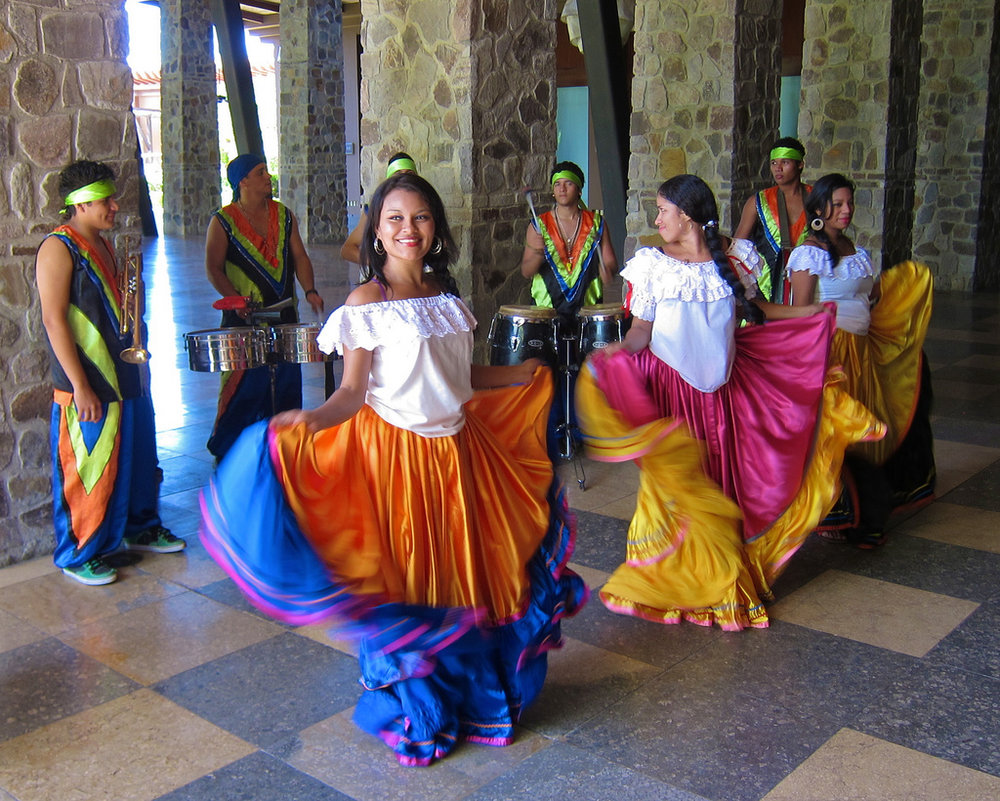Costa Rican dancers and musicians