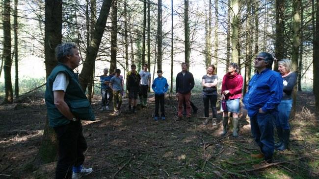 Alan Heeks, leading a resilience walk at Hazel Hill Wood