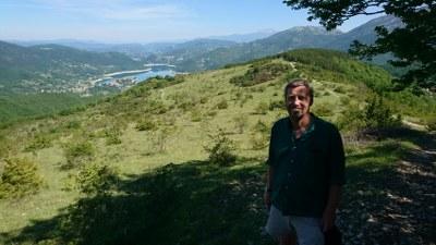 Alan Heeks walking the Camino di San Benedetto