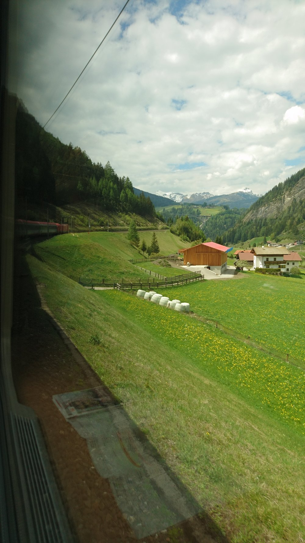View from the train on The Brenner Pass