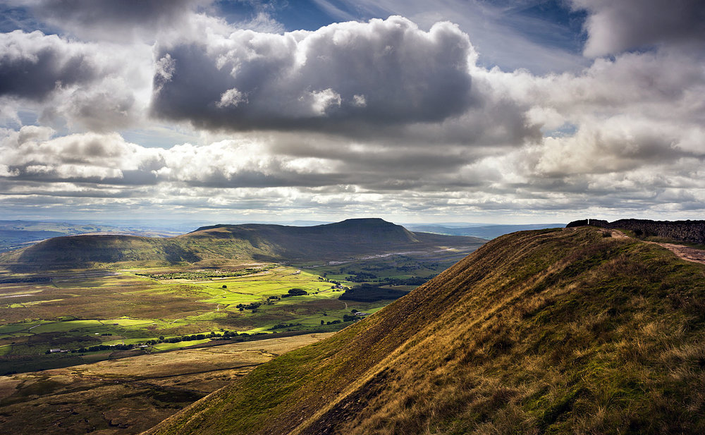 View of Ingleborough from Whernside, Yorkshire Dales