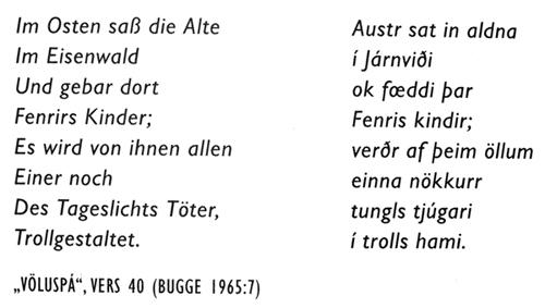 """Völuspa"" Vers 40"