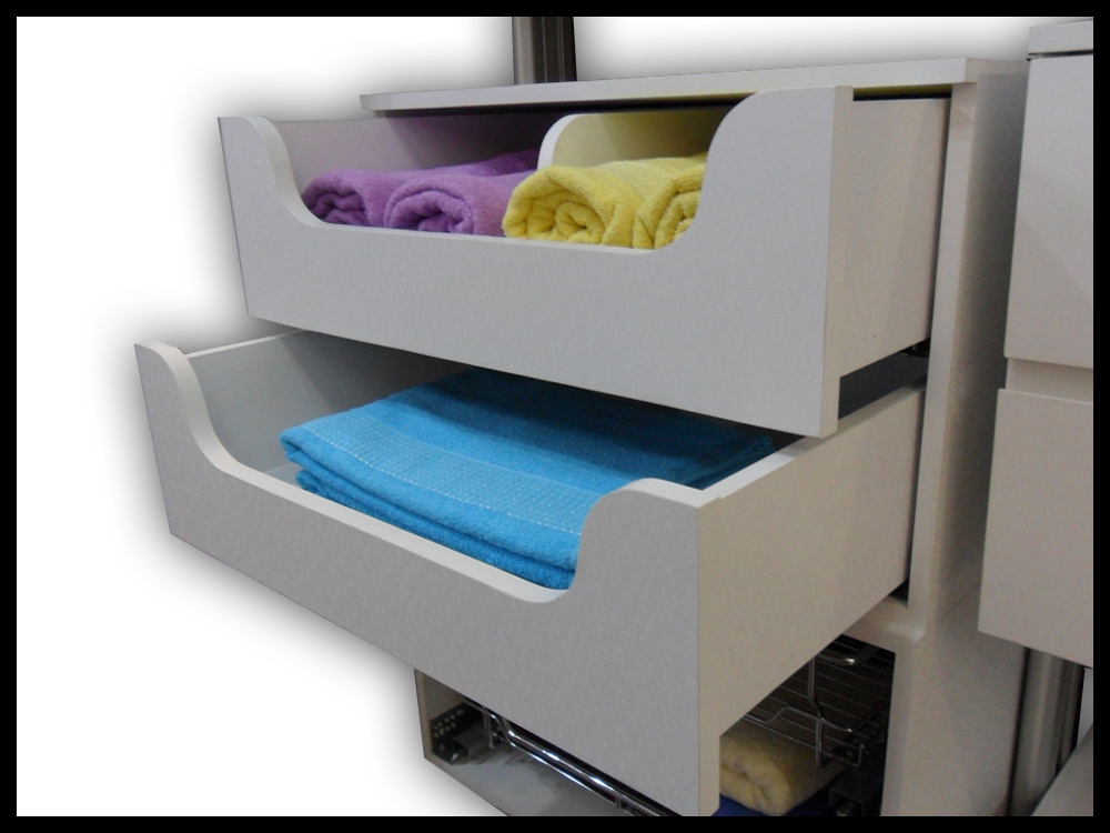 2 Tier Pull Out Tray With Soft Close Feature - A