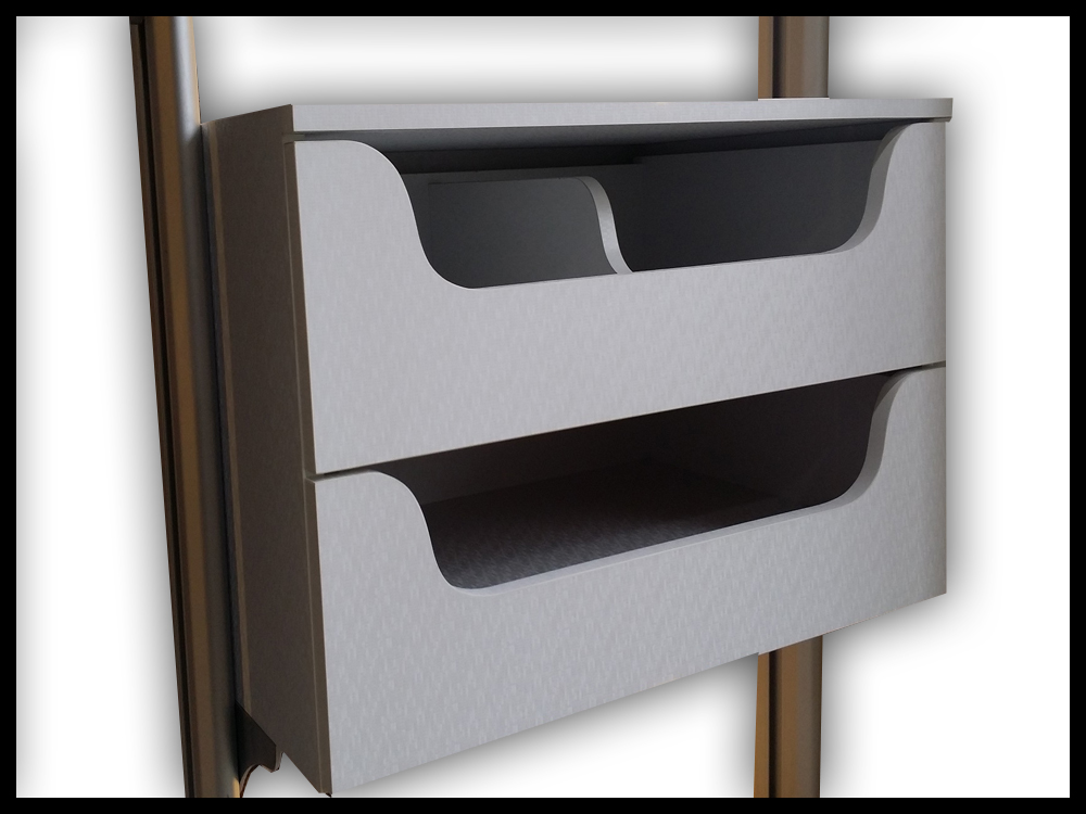2 Tier Pull Out Tray With Soft Close Feature - B
