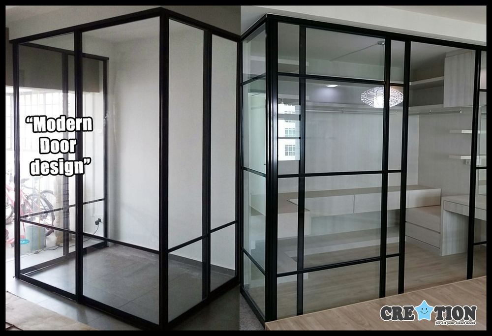 creation sg pole system closet walk in wardrobe sliding glass door