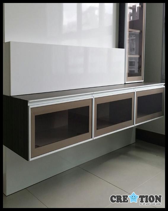 TV Console Glass Panel