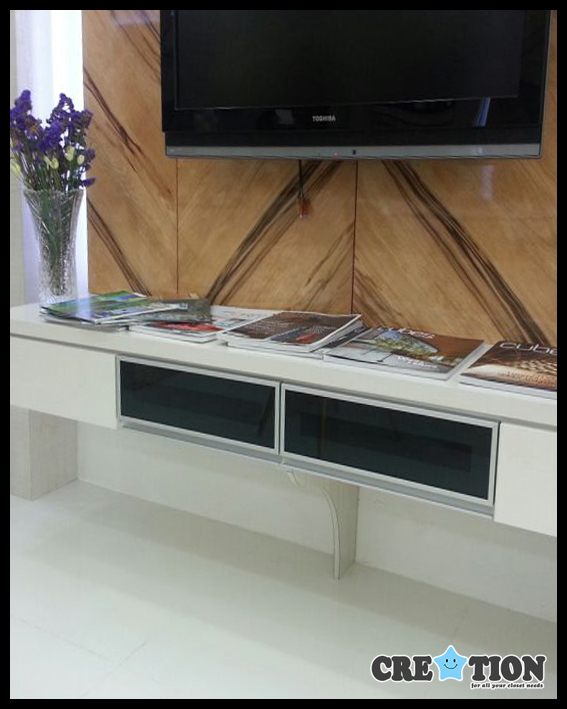 TV Console Glass Panel