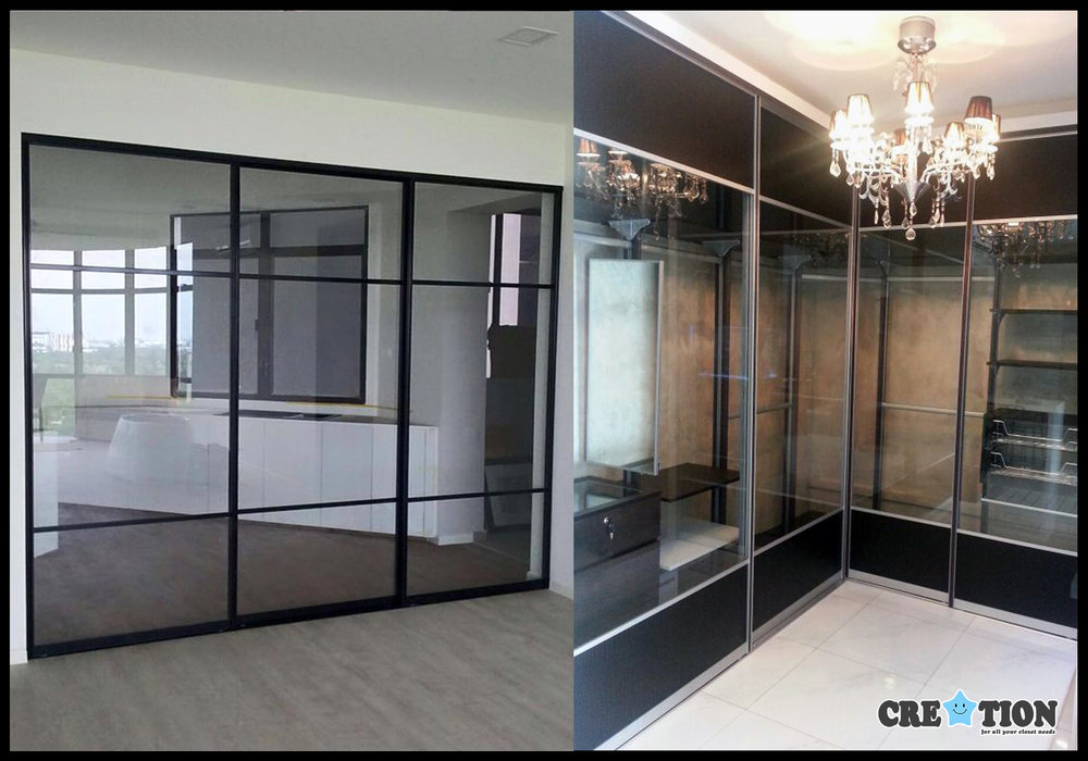 Creation Pole System Closet Walk In Wardrobe Sliding Glass Door