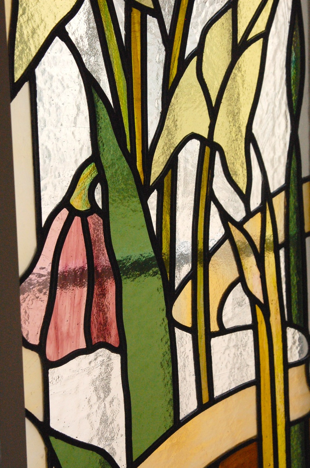 Floral Stained Glass. Detail.