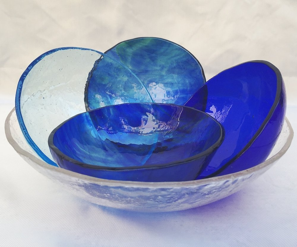 Smal bowls blue