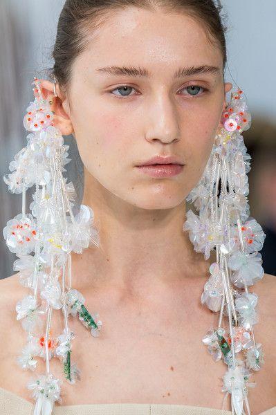 Delpozo SS17 - Maximalist, Hyper-Embellished statement earrings