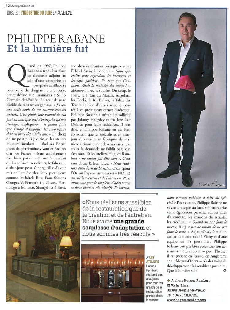 Auvergne Eco - Philippe Rabane et la lumière fut