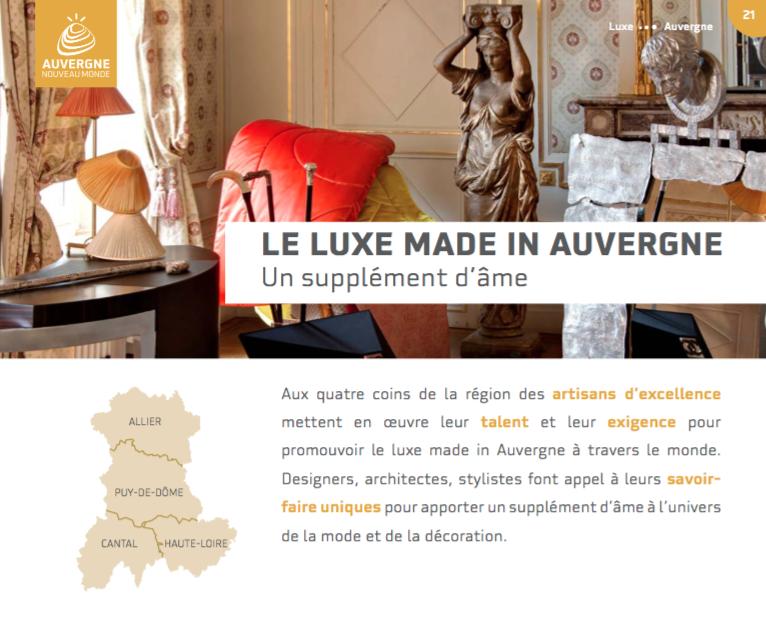"Le luxe ""Made in Auvergne"" - Supplément d'âme"