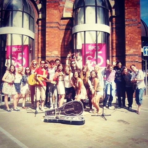 That time a #choir sang a few songs with us whilst #busking in #Leeds #summer #sun #music