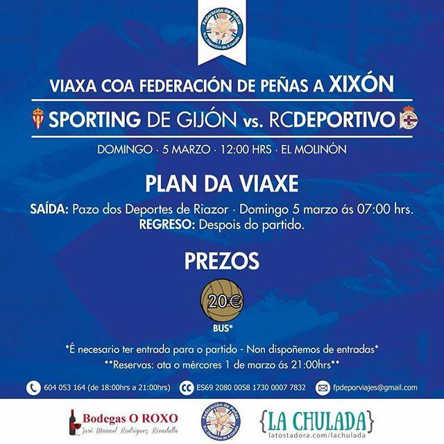 Se tes entrada para o Sporting-Depor, viaxa con nós a Xixón