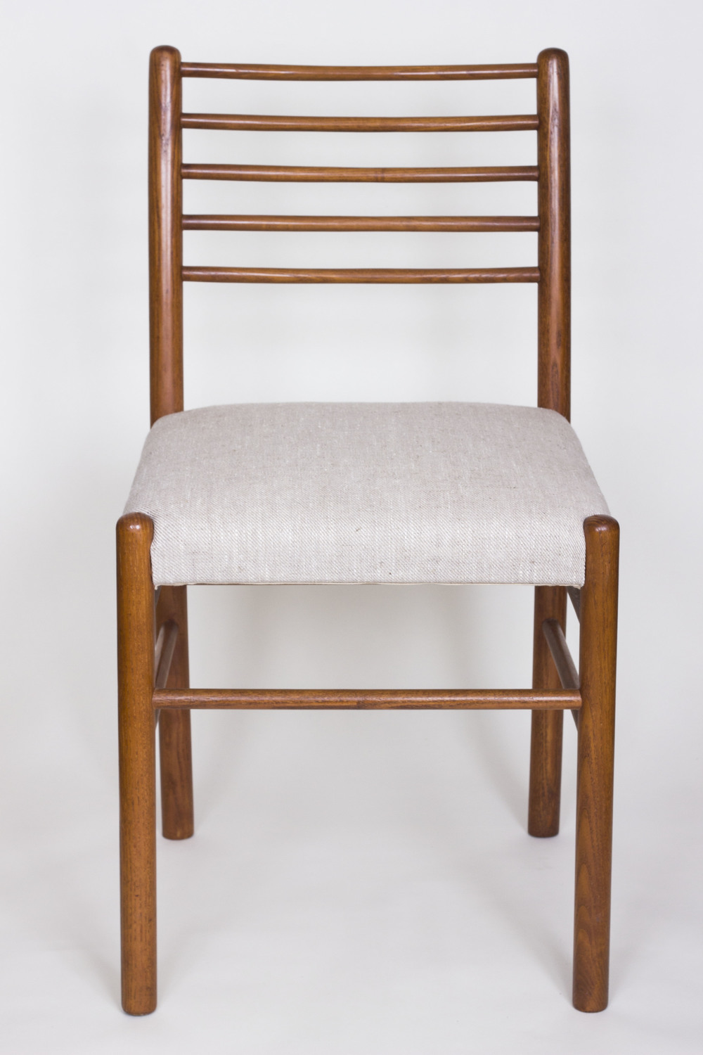 Teak upholstered chair circa 1960, part of set of 6.  £275