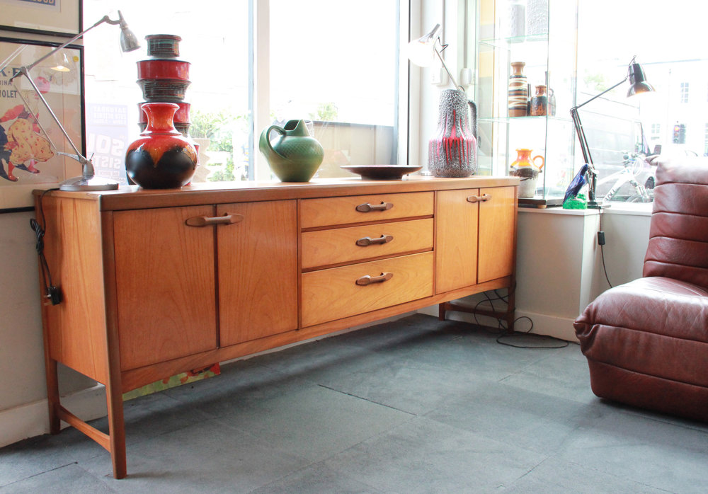 SOLD  -teak sideboard by 'nathan' england £450