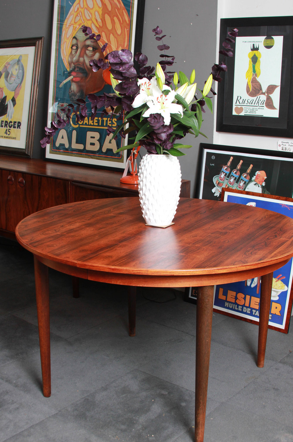 SOLD  -  ROSEWOOD Round Extending Table