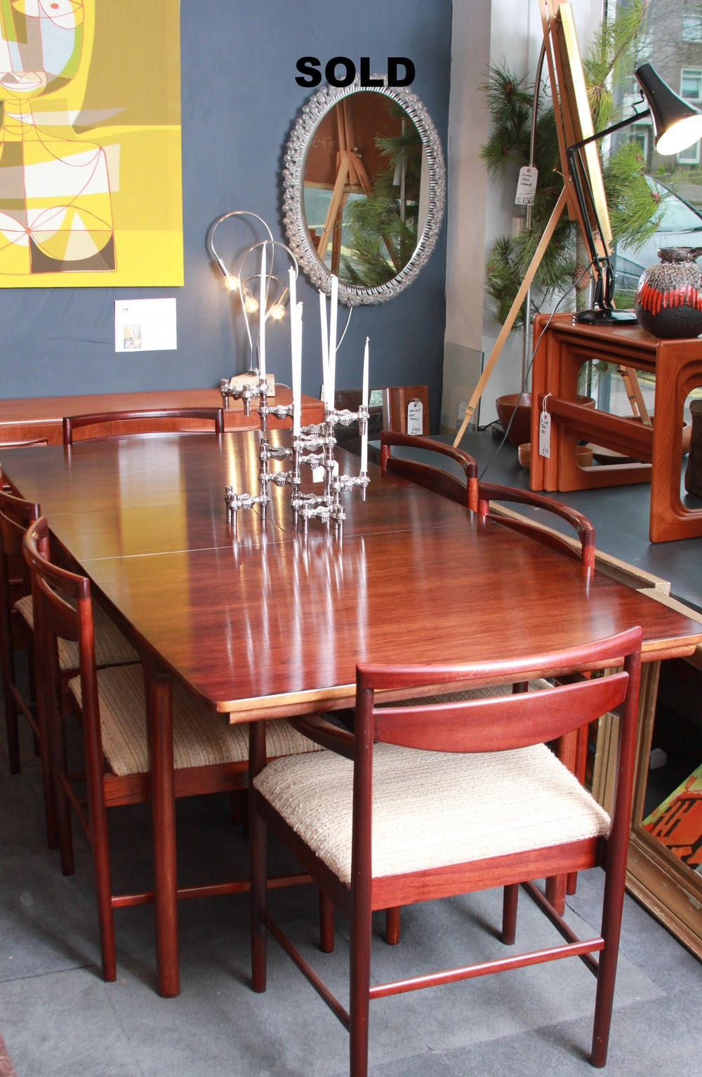 SOLD- Rosewood Extending Table £1400