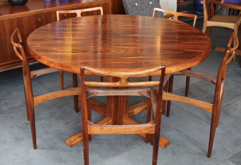 Danish Rosewood Extending Table by JOHN MORTENSEN FOR HELTBORG MOBLER  £2,500