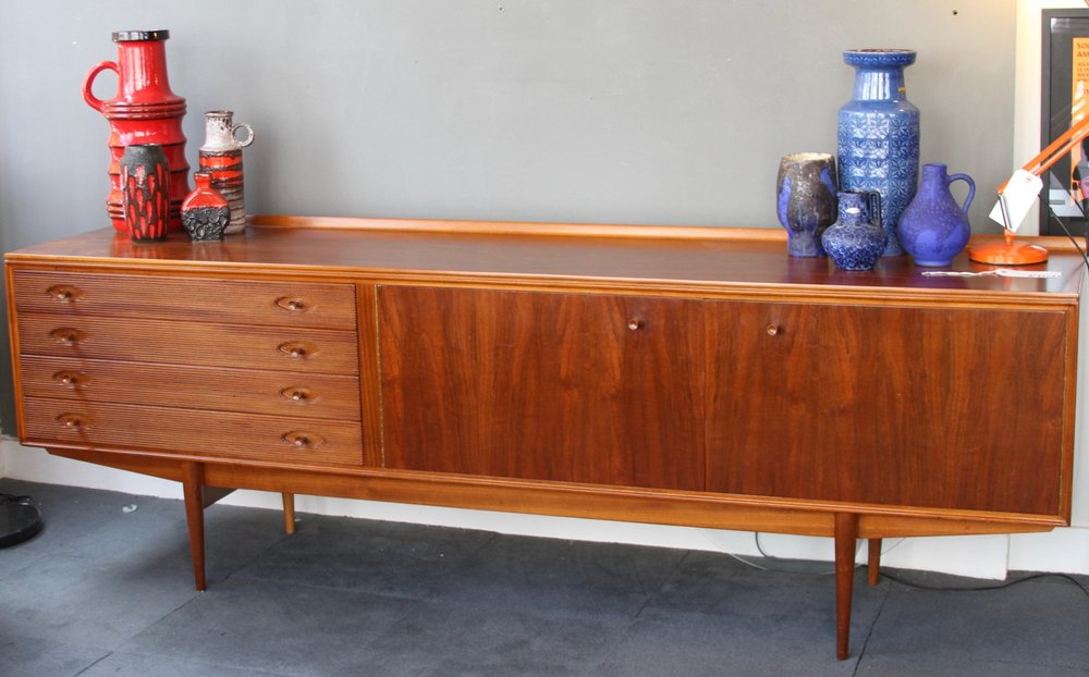 Walnut Sideboard - 7 1/2 ft -Robert Heritage for Archie Shine £1750
