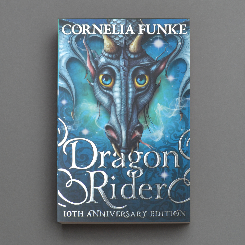 The 10th Anniversary edition of Cornelia Funke's bestselling Dragon Rider. I designed the cover for Chicken House. Illustration by Christopher Gibbs.