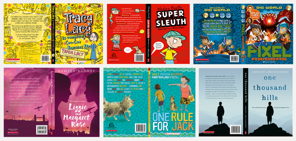A diverse range of covers for Scholastic Australia.