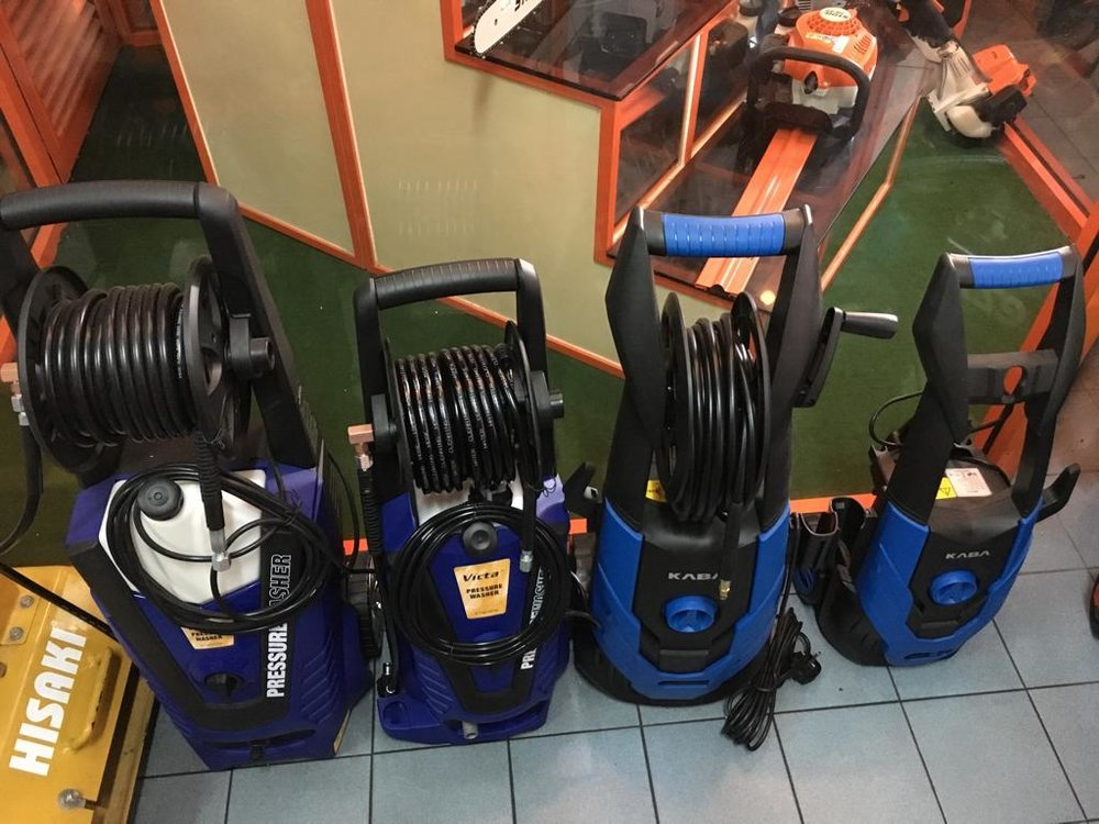 Some of our pressure sprayers for home use (cleaning your car / house / drain / etc).