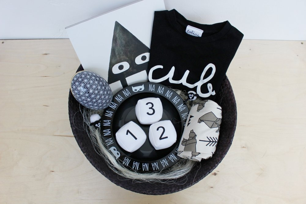 Monochrome easter basket goodies from independent family run owens monochrome easter basket negle Choice Image