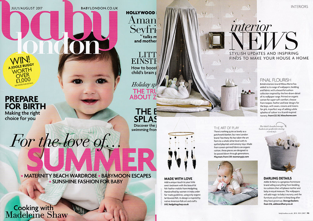Baby London - Interior News - July/August 2017