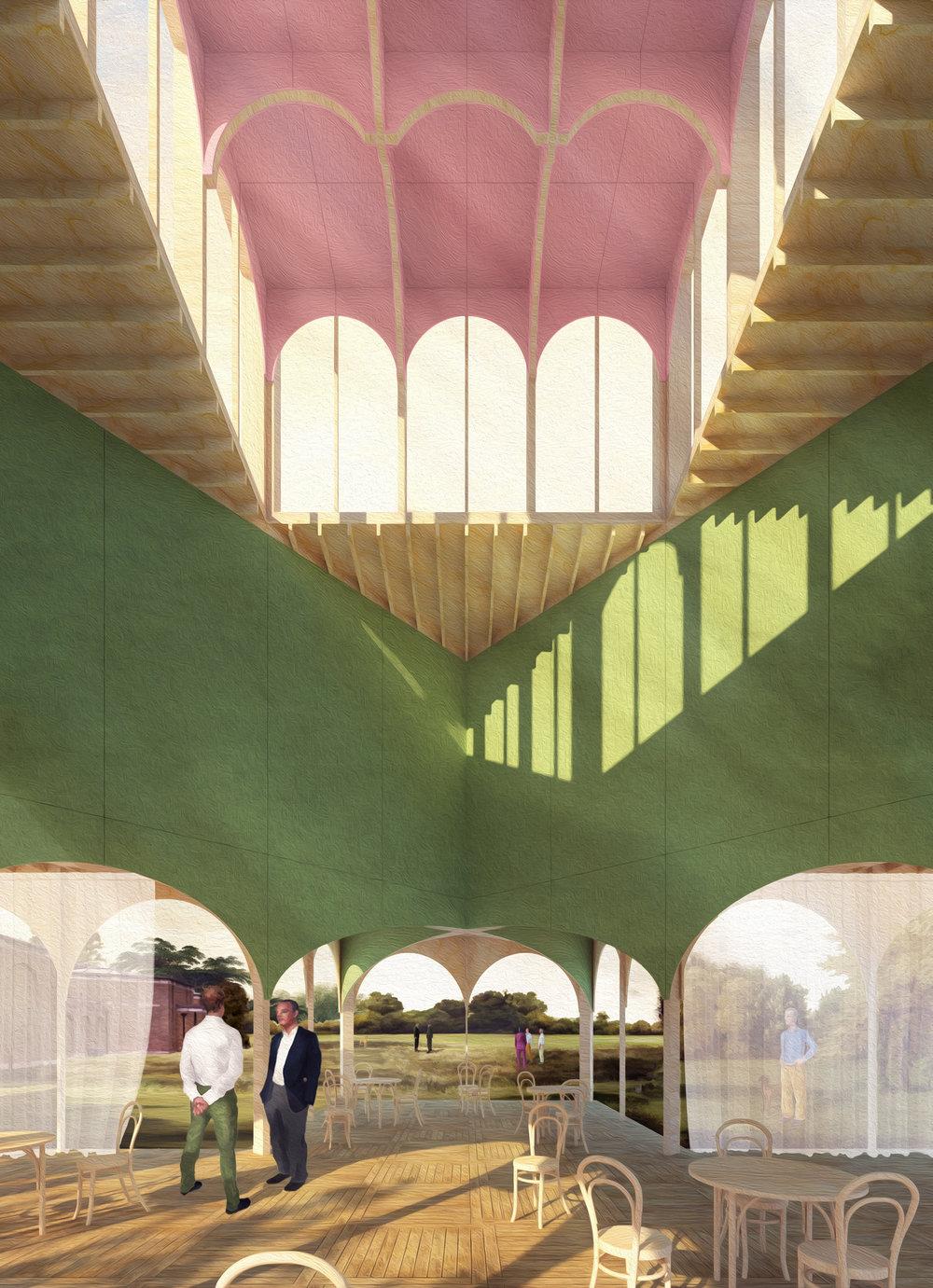 Tom Benton Architects, Hayatsu Architects and MJ Wells' shortlisted entry
