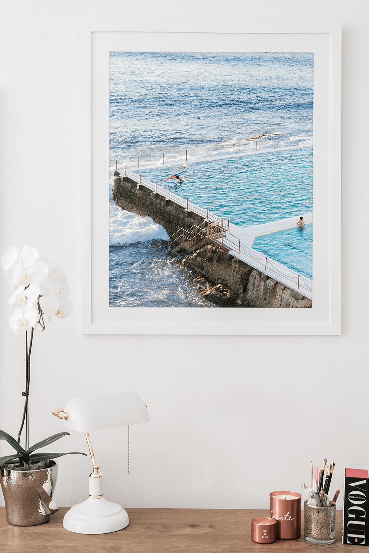 - 24x30 inch framed print